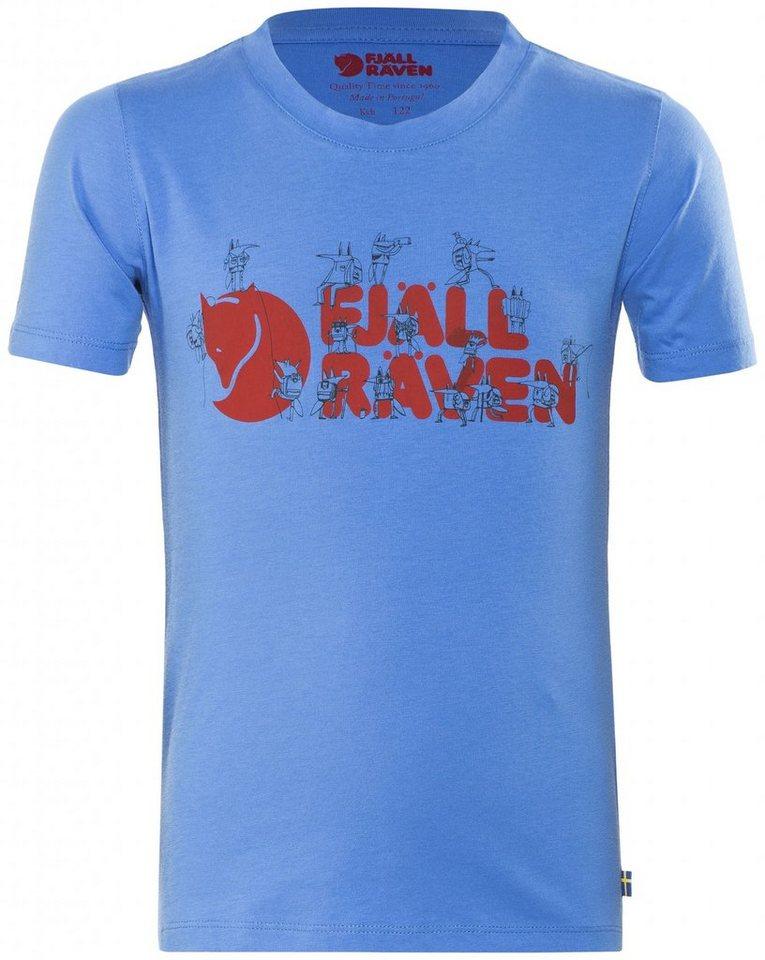 Fjällräven T-Shirt »Trek Logo T-Shirt Kids« in blau