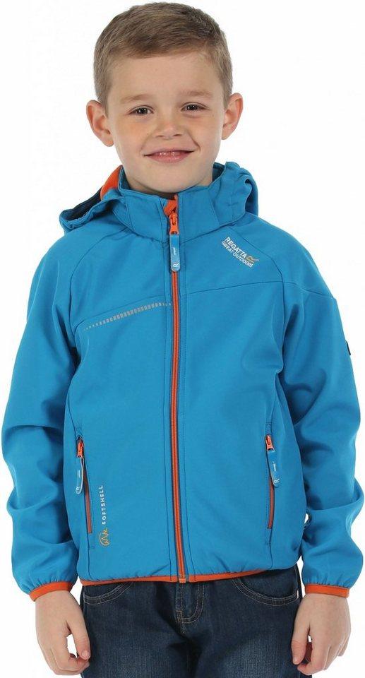 Regatta Outdoorjacke »Hydronic Softshell Jacket Kids« in blau