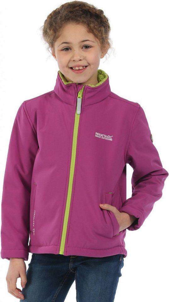 Regatta Outdoorjacke »Tato IV Softshell Jacket Kids« in pink