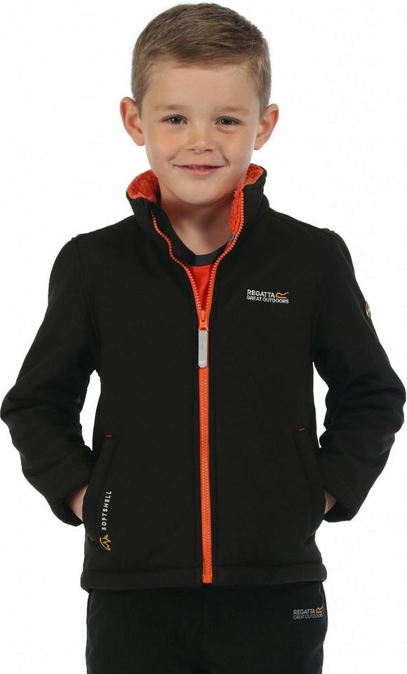Regatta Outdoorjacke »Tato IV Softshell Jacket Kids« in schwarz