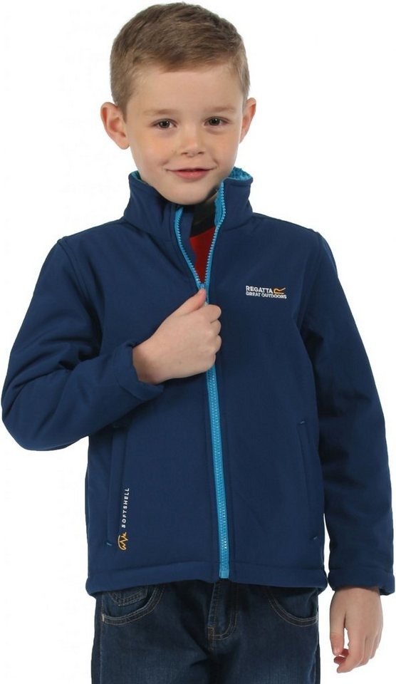 Regatta Outdoorjacke »Tato IV Softshell Jacket Kids« in blau