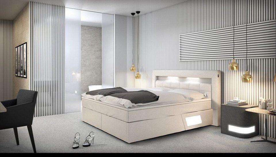 Innocent Boxspringbett mit LED-Beleuchtung 180x200 cm »Luxane«