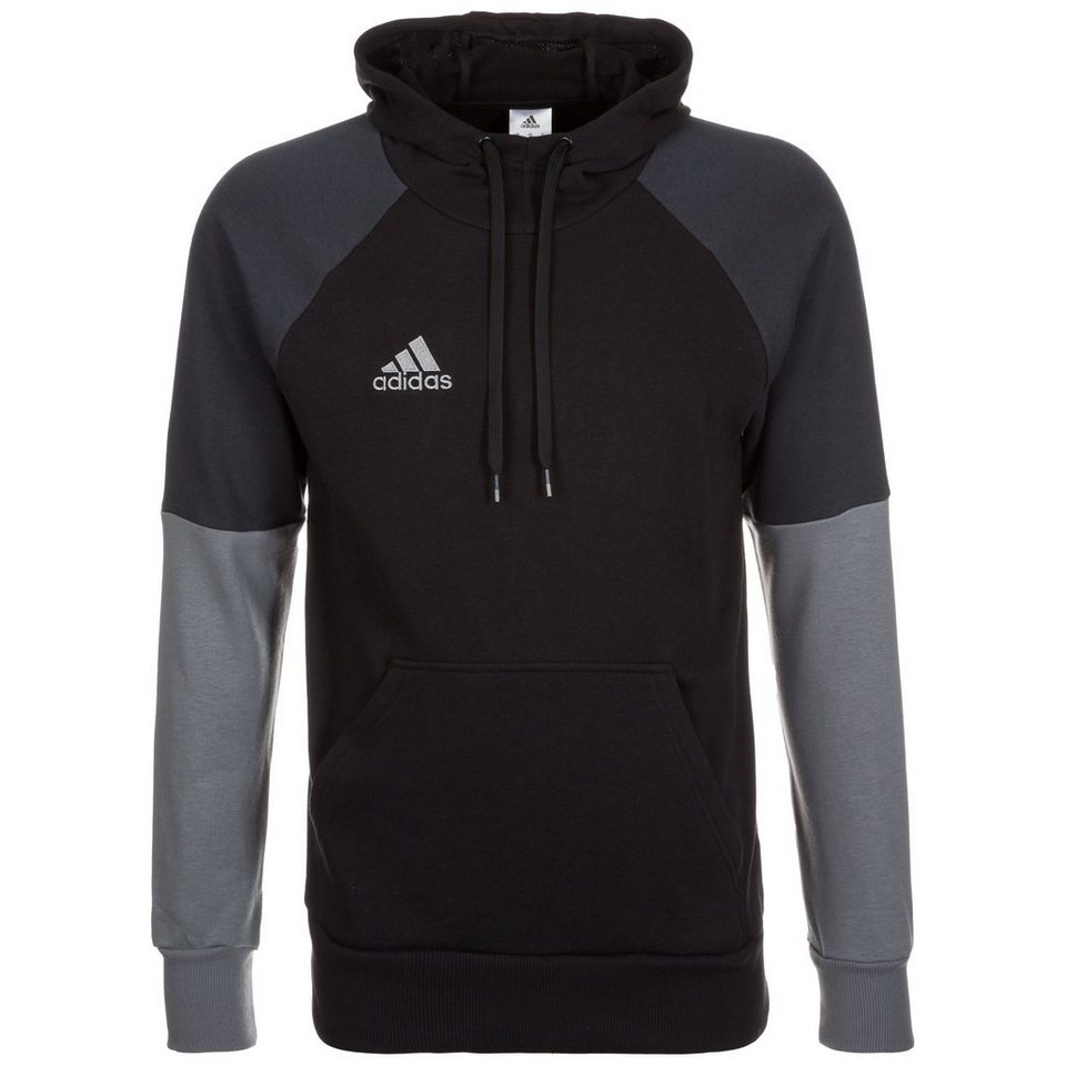 adidas Performance Condivo 16 Trainingskapuzenpullover Herren in schwarz / grau