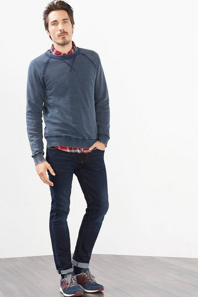 ESPRIT CASUAL Vintage Sweatshirt aus 100% Baumwolle in NAVY