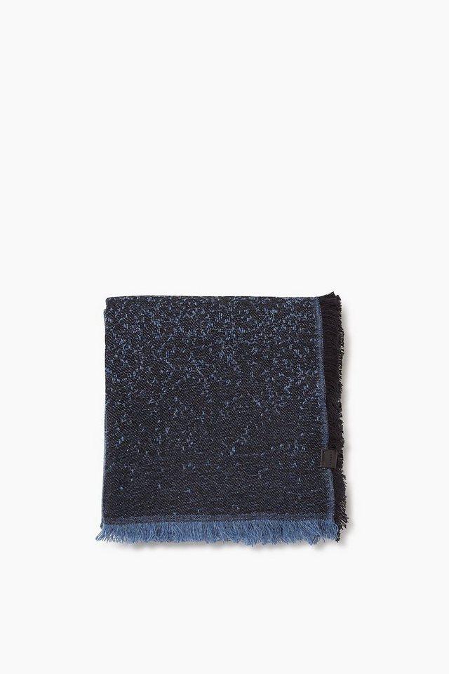 ESPRIT CASUAL Baumwoll/Woll Webschal mit Farbverlauf in INK
