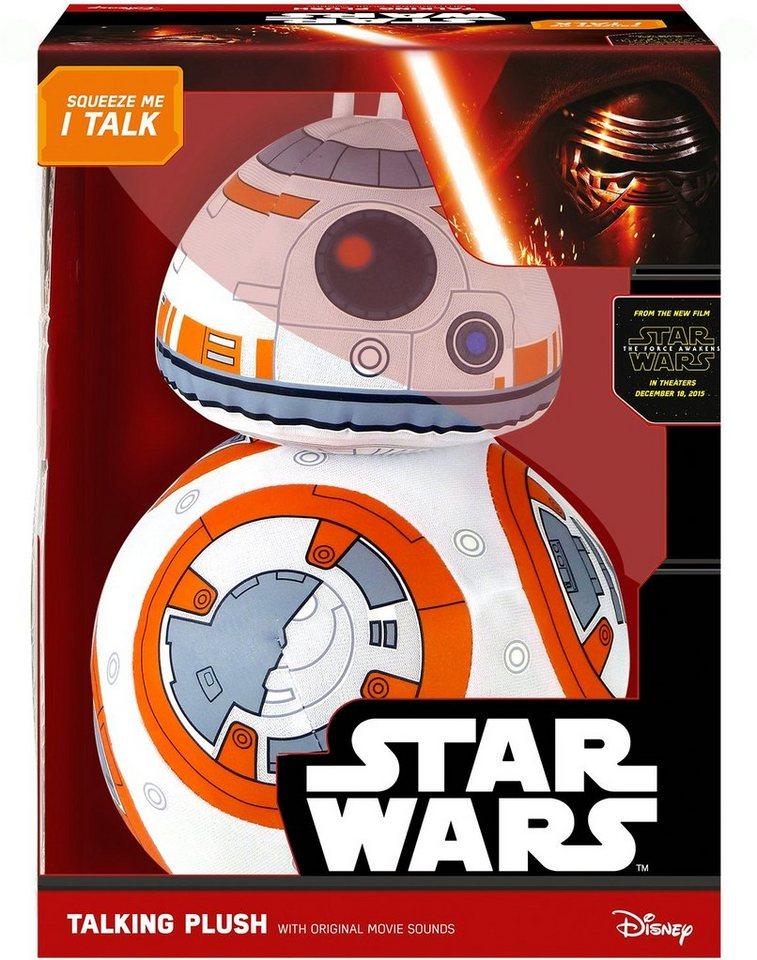 Plüschfigur mit Sound, »Disney Star Wars™, Deluxe, BB8, ca. 38 cm« in weiß/orange