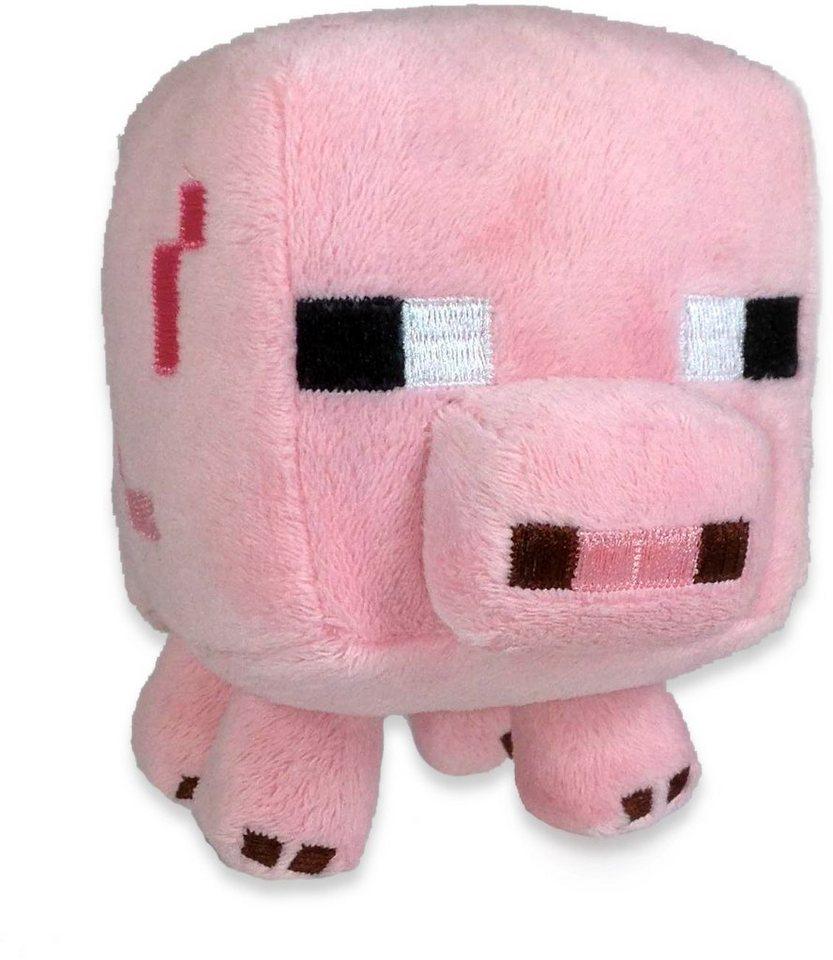 Plüschtier, »Minecraft, Schwein, ca. 15 cm« in Farbig