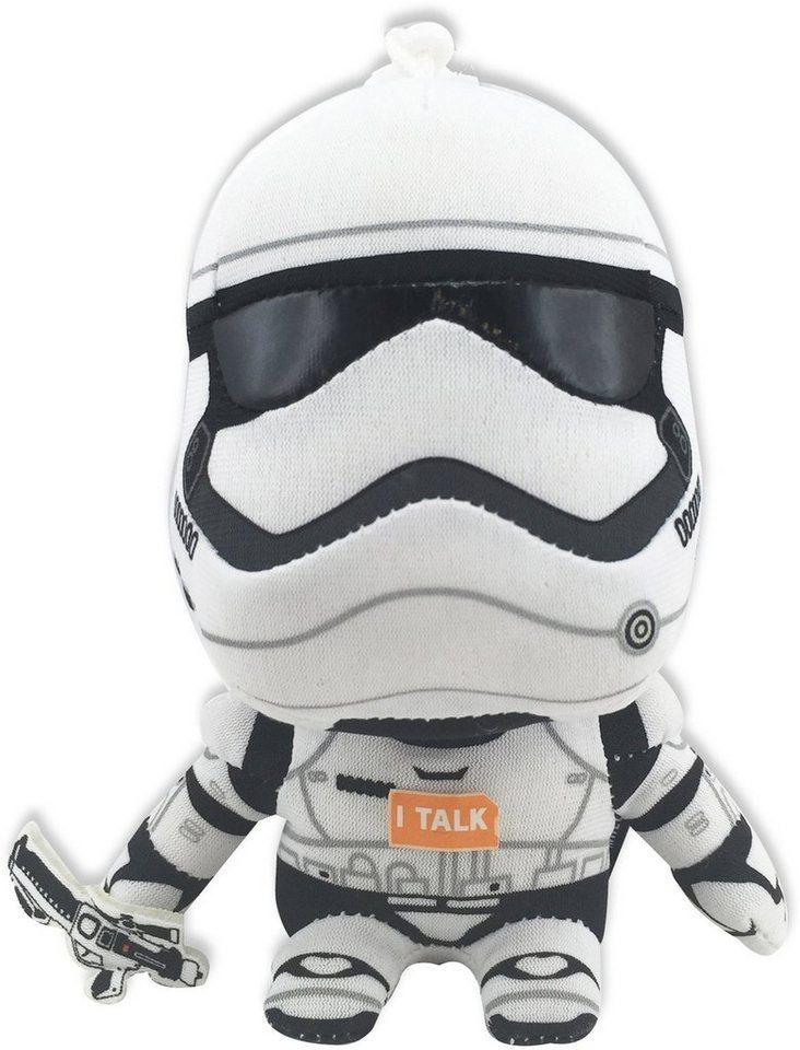 Plüschfigur mit Sound und Anhänger, »Disney Star Wars™, Stormtrooper, ca. 14 cm« in Farbig