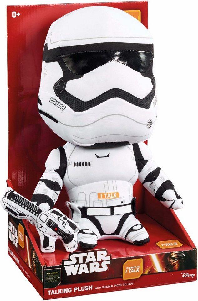 Plüschfigur mit Sound, »Disney Star Wars™, Premium, Stormtrooper, ca. 30 cm« in Farbig