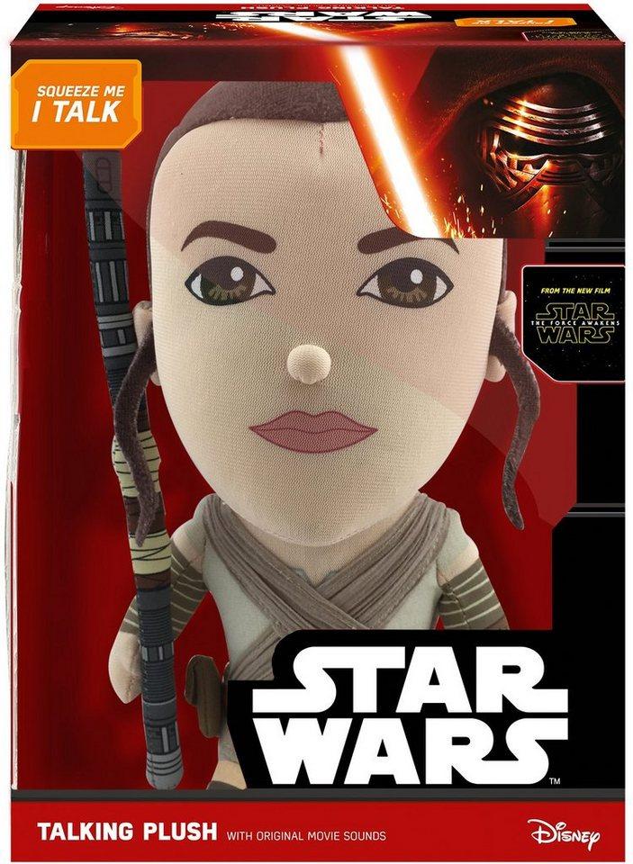 Plüschfigur mit Sound, »Disney Star Wars™, Deluxe, Rey, ca. 38 cm« in Farbig
