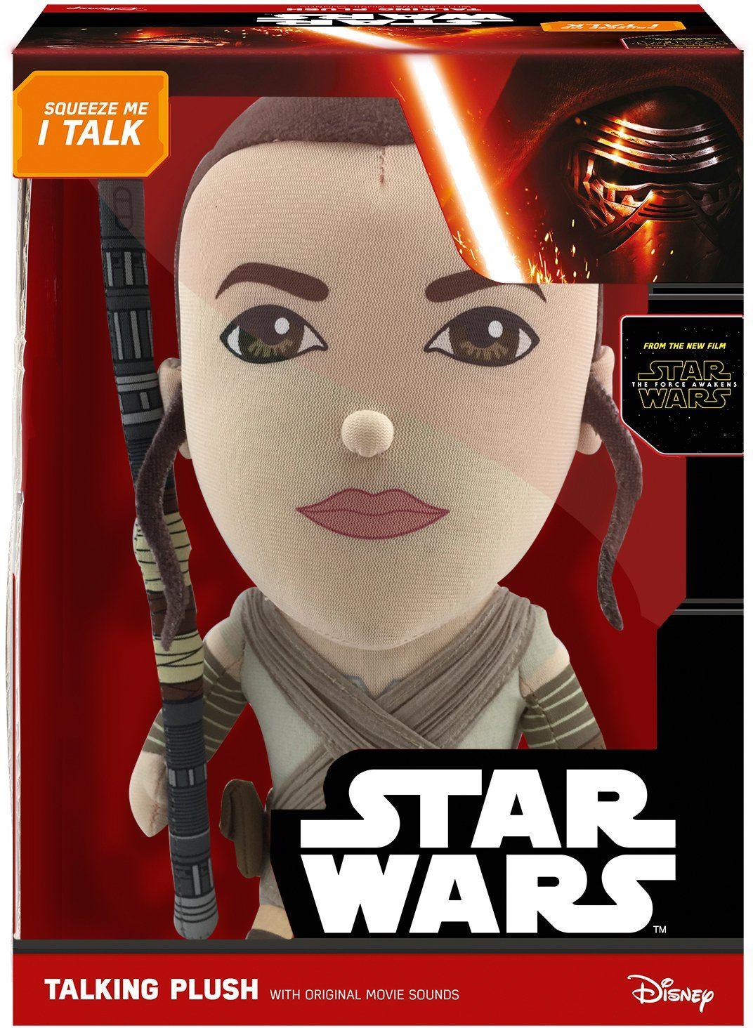 Plüschfigur mit Sound, »Disney Star Wars™, Deluxe, Rey, ca. 38 cm«
