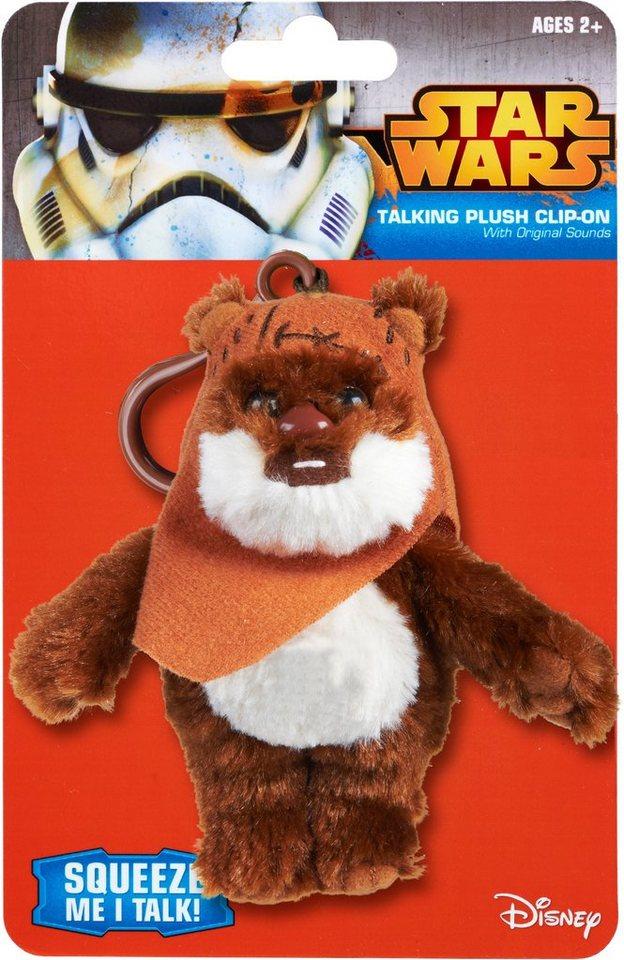 Plüschfigur mit Sound und Anhänger, »Disney Star Wars™, Ewok Wicket, ca. 12 cm« in Farbig