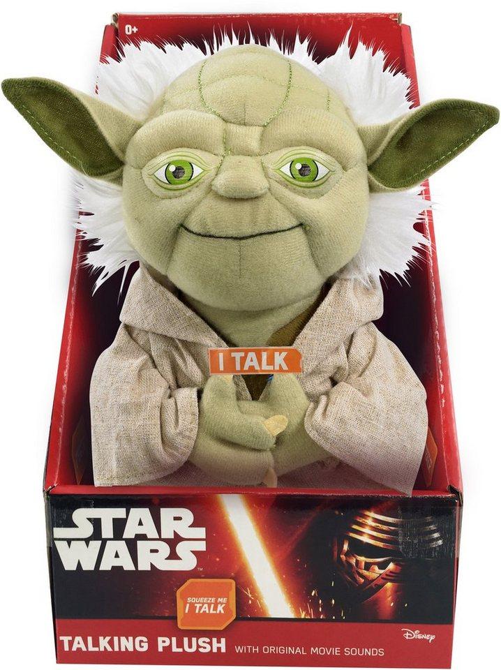 Plüschfigur mit Sound, »Disney Star Wars™, Yoda, ca. 23 cm« in grün/grau