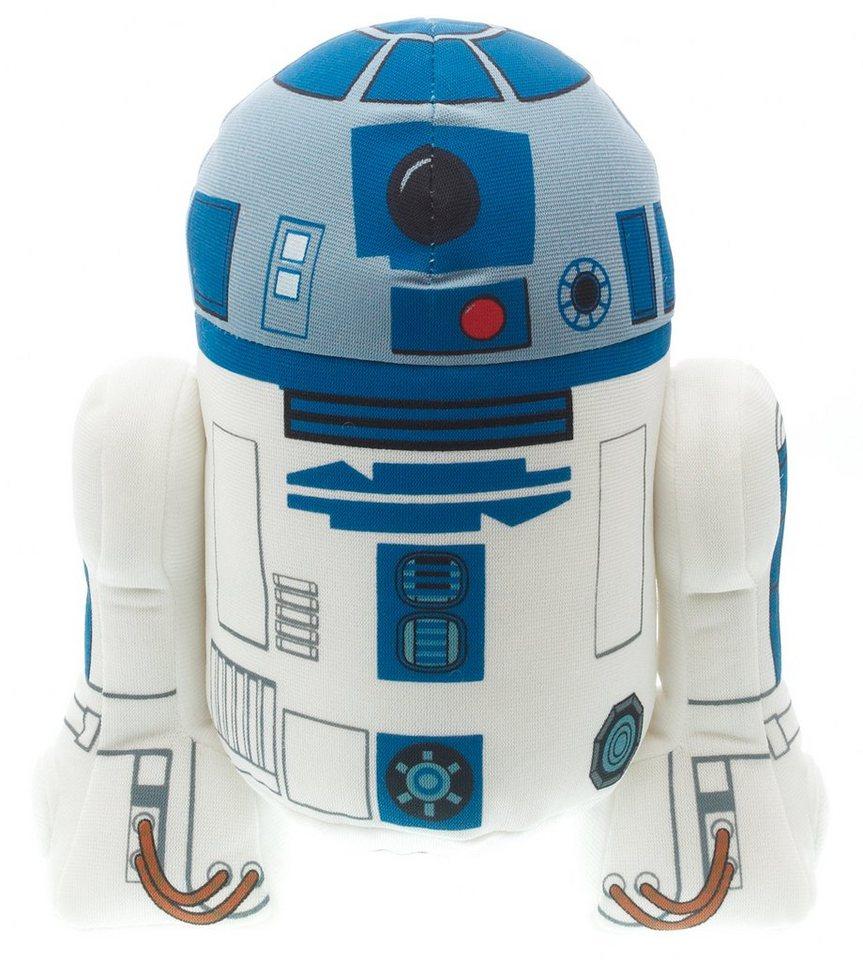 Plüschfigur mit Sound, »Disney Star Wars™, R2D2, ca. 19 cm« in weiß/blau