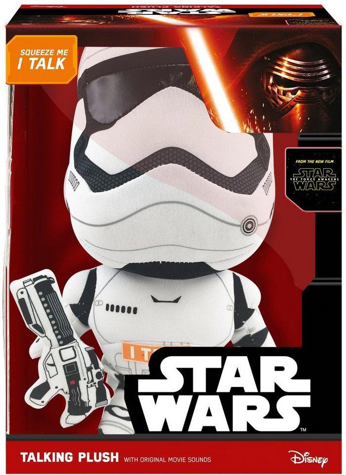 Plüschfigur mit Sound, »Disney Star Wars™, Deluxe, Stormtrooper, ca. 38 cm« in weiß/schwarz