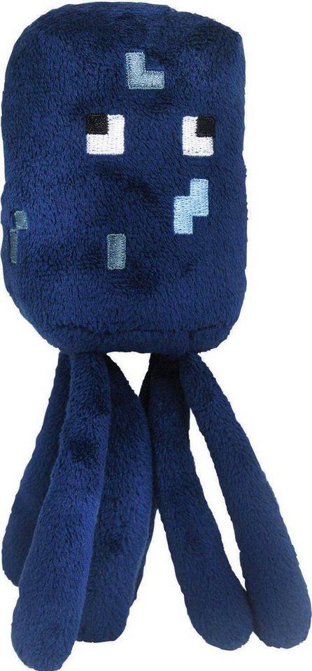 Plüschtier, »Minecraft, Tintenfisch, ca. 18 cm« in blau