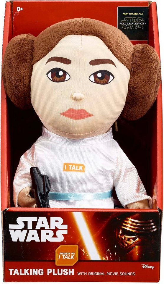 Plüschfigur mit Sound, »Disney Star Wars™ Collectors Edition, Leia, ca 23 cm« in Weiß/ Farbig