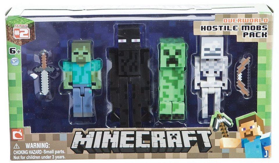 Spielfiguren Set, »Minecraft, Multipack Serie 2, Feindliche Mobs«