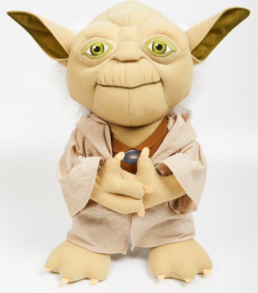Plüschfigur mit Sound, »Disney Star Wars™, Deluxe, Yoda, ca. 38 cm« in Beige