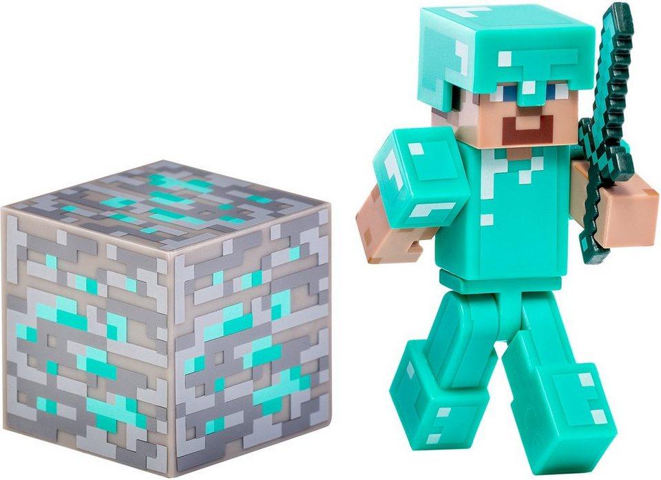 Spielfigur, »Minecraft, Serie 2, Diamant Steve mit Accessoire«