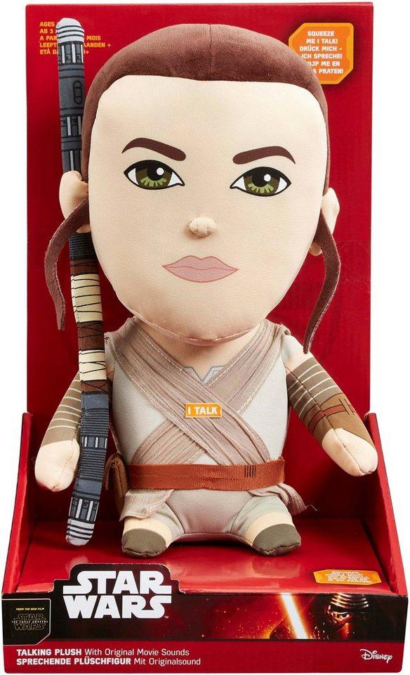 Plüschfigur mit Sound, »Disney Star Wars™, Premium, Rey, ca. 30 cm« in Farbig