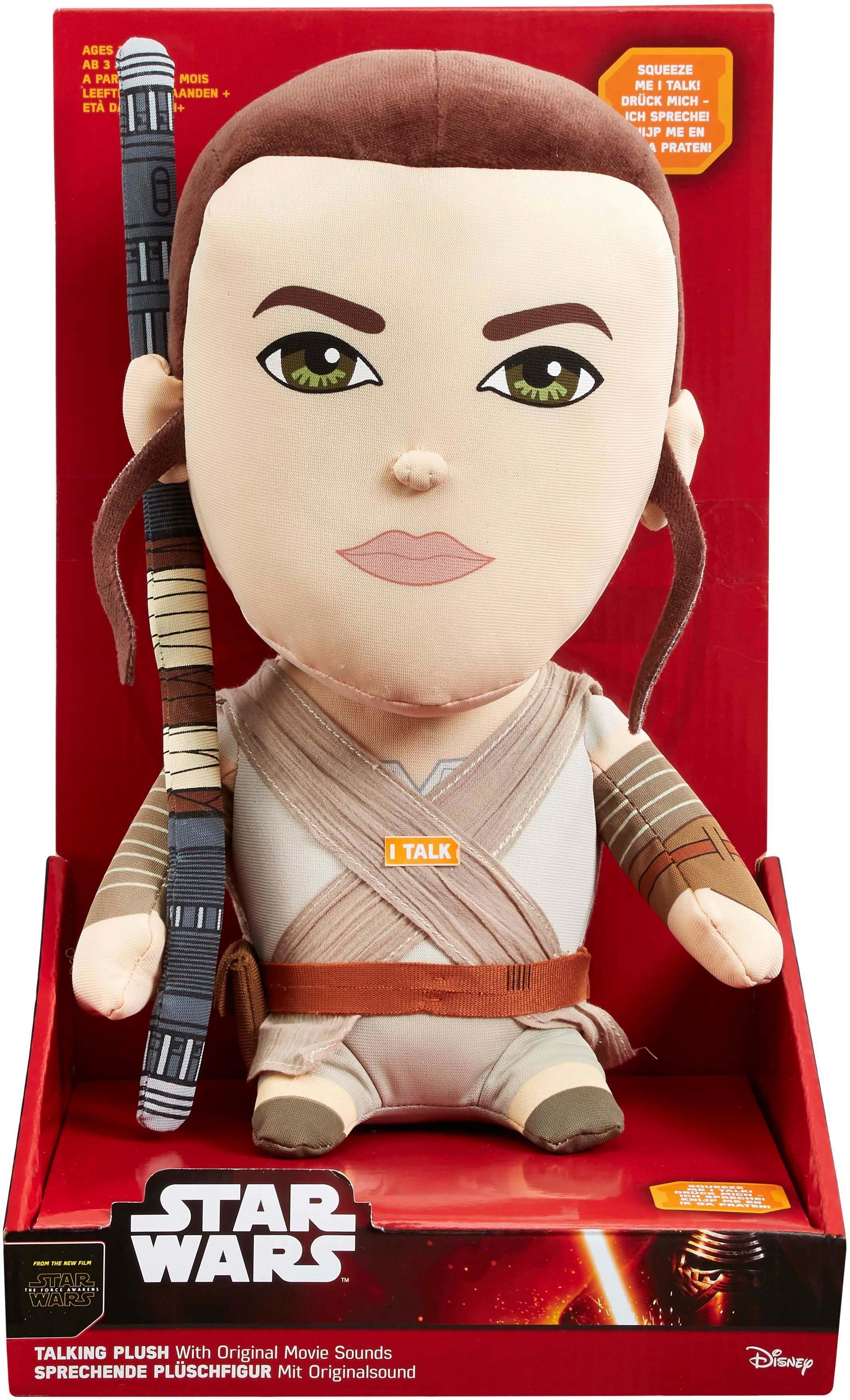 Plüschfigur mit Sound, »Disney Star Wars™, Premium, Rey, ca. 30 cm«