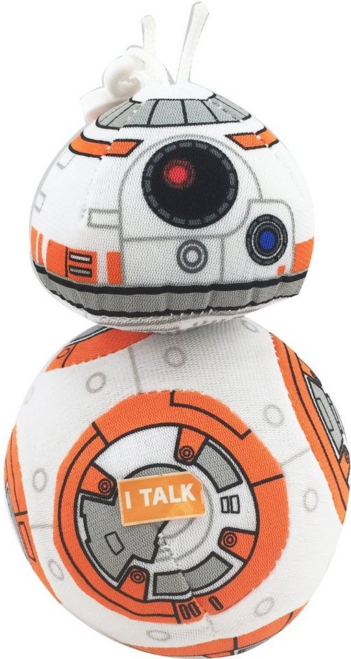 Plüschfigur mit Sound und Anhänger, »Disney Star Wars™, BB8, ca. 11 cm« in Orange/ Weiß