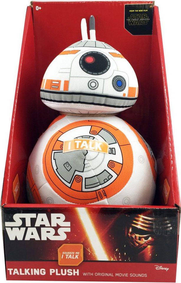Plüschfigur mit Sound, »Disney Star Wars™, BB8, ca. 20 cm« in Orange/ weiß