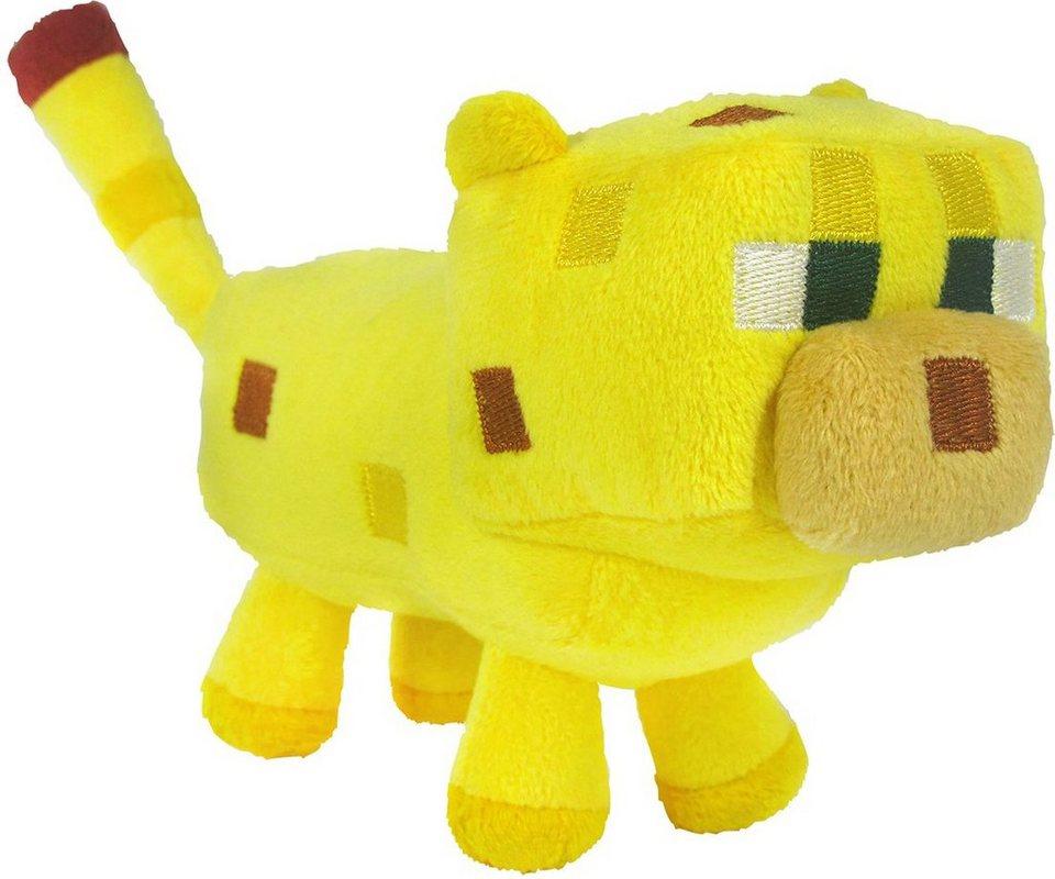 Plüschtier, »Minecraft, Ozelot, ca. 16 cm« in Gelb