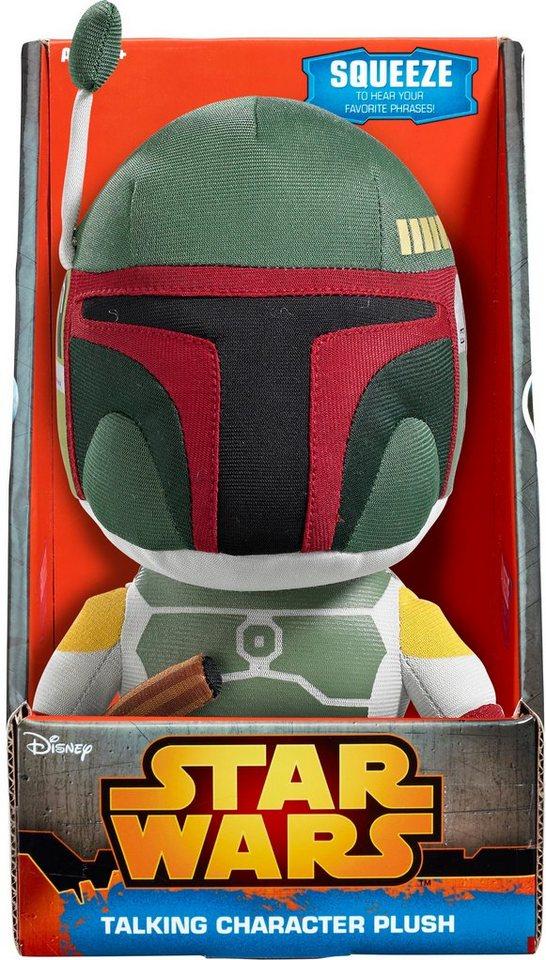 Plüschfigur mit Sound, »Disney Star Wars™ Collectors Edition, Boba Fett, ca 23 cm« in Grün/ Farbig