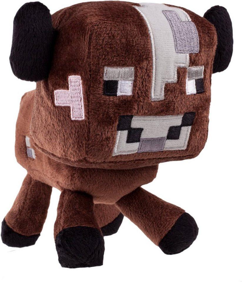 Plüschtier, »Minecraft, Baby Kuh, ca. 16 cm« in Braun