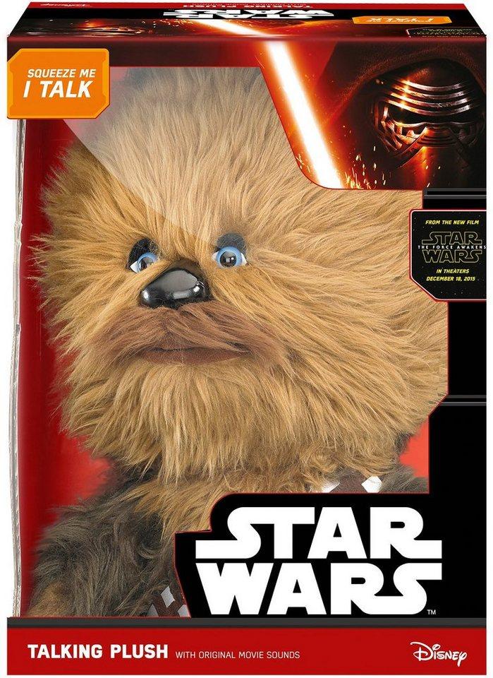 Plüschfigur mit Sound, »Disney Star Wars™, Deluxe, Chewbacca, ca. 38 cm« in Braun