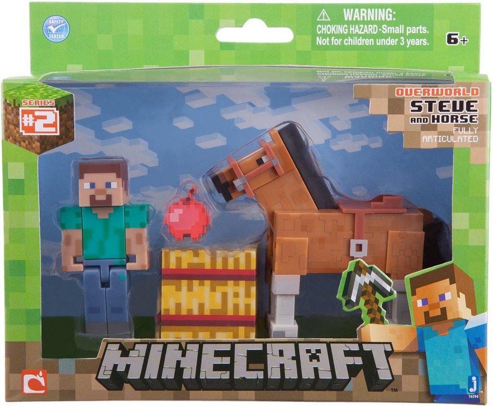 Spielfigur, »Minecraft, Serie 2, Steve mit braunem Pferd«