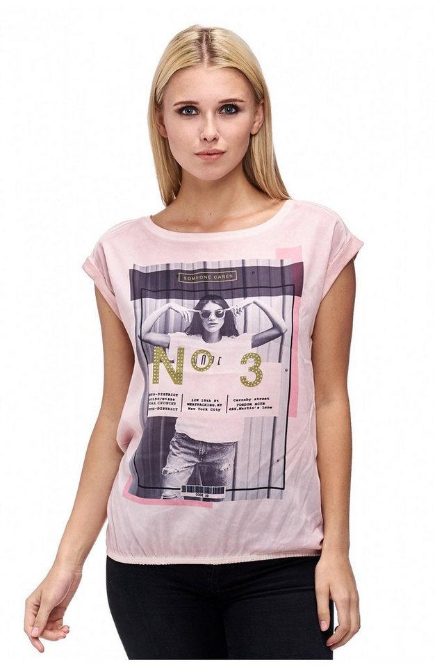 Decay T-Shirt in Ballonform mit Fotoprint in puder
