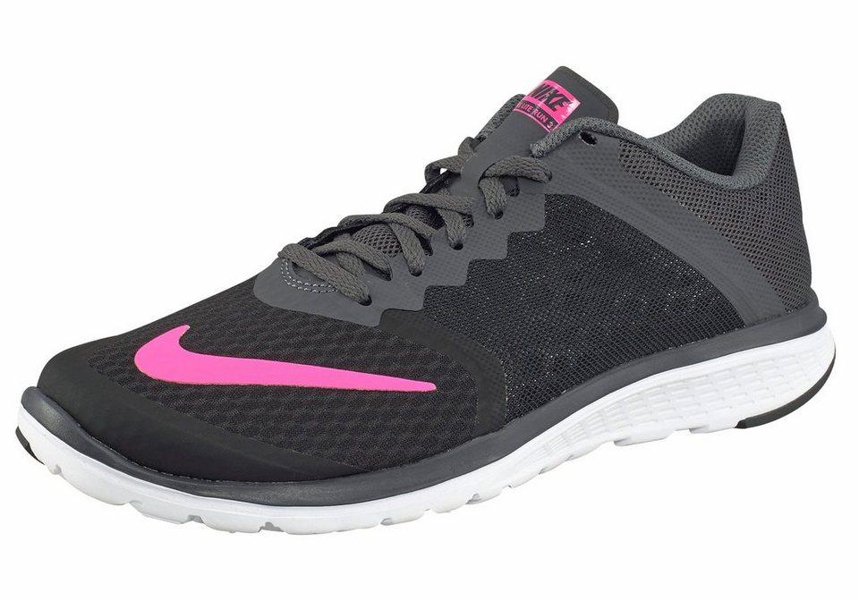 Nike FS Lite Run 3 Wmns Laufschuh in Schwarz-Neon-Pink