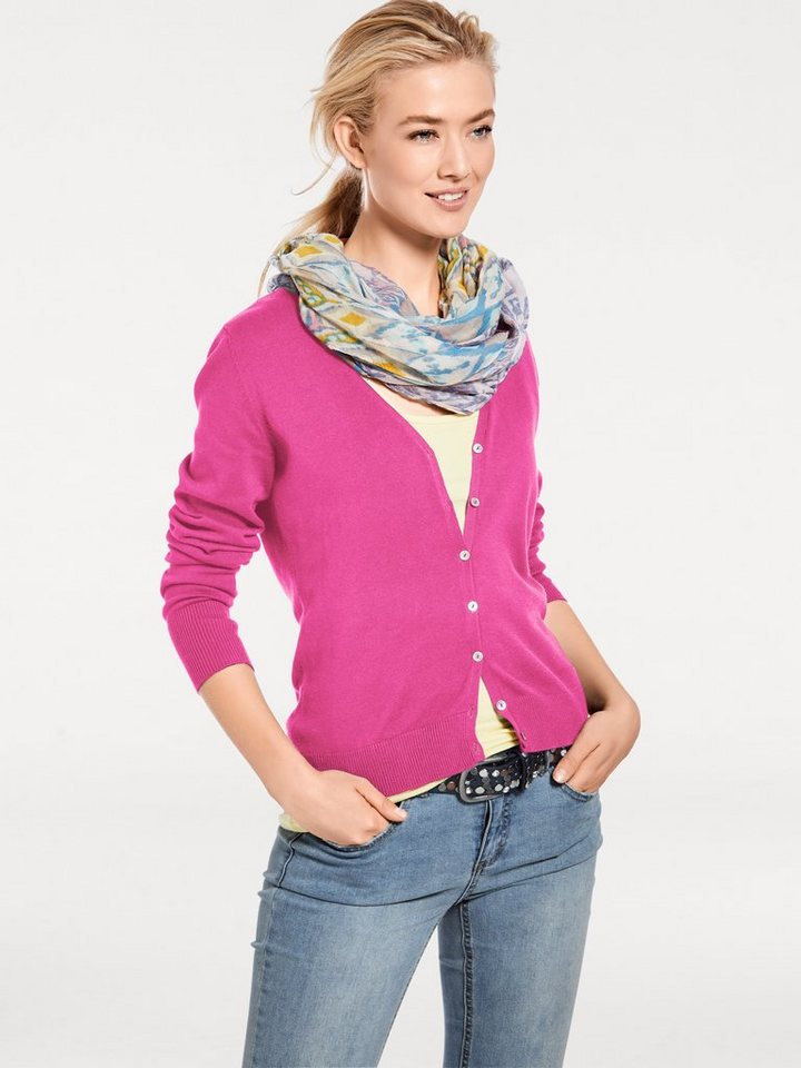 Feinstrickjacke in pink