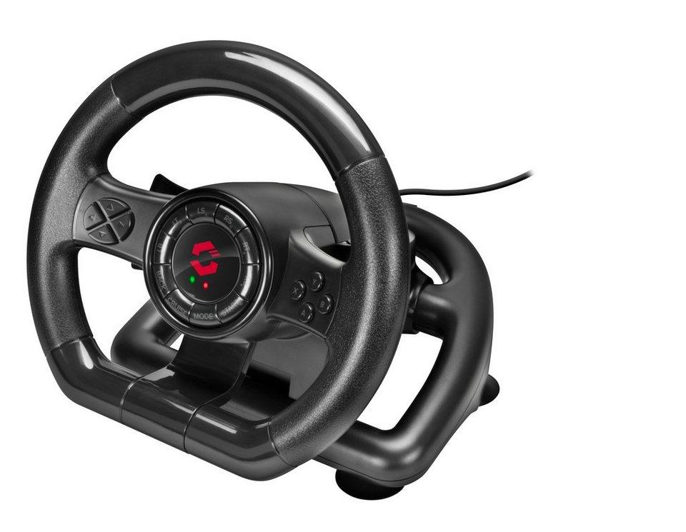 speedlink lenkrad black bolt racing wheel f r pc otto. Black Bedroom Furniture Sets. Home Design Ideas