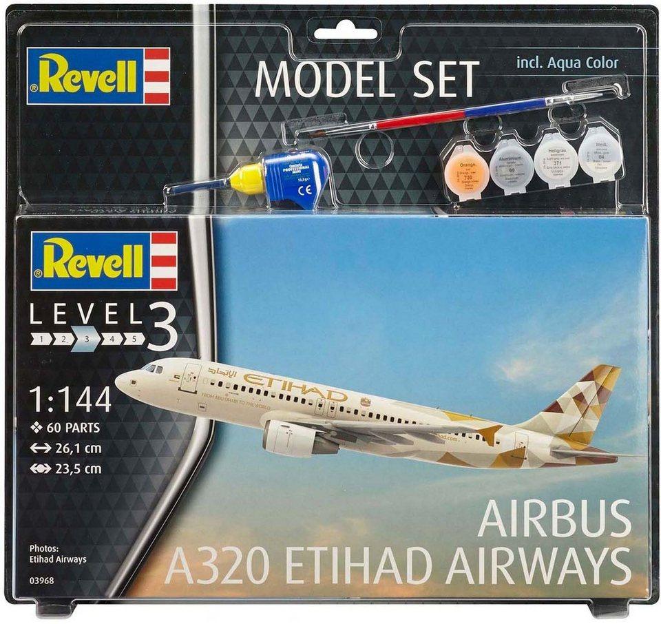 Revell Modellbausatz mit Zubehör Maßstab 1:144,  Model Set, Airbus A320 Etihad  online kaufen