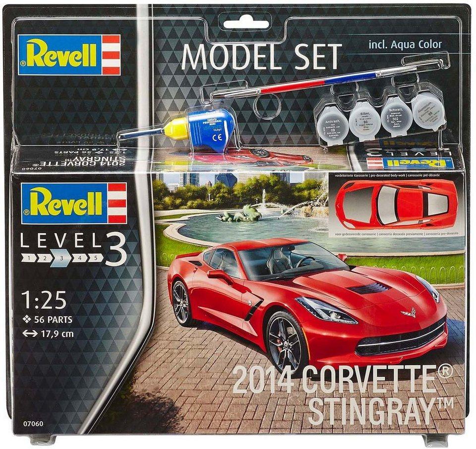 Revell Modellbausatz mit Zubehör, Maßstab 1:24, »Model Set, Corvette Stingray 2014«