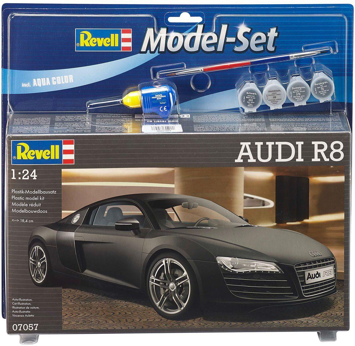 Revell Modellbausatz mit Zubehör, Maßstab 1:24, »Model Set, Audi R8«