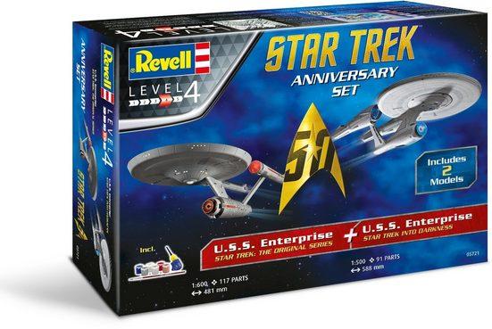 Revell® Modellbausatz »50 Jahre Star Trek, Enterprise«, Maßstab 1:500 · 1:600, (Set)
