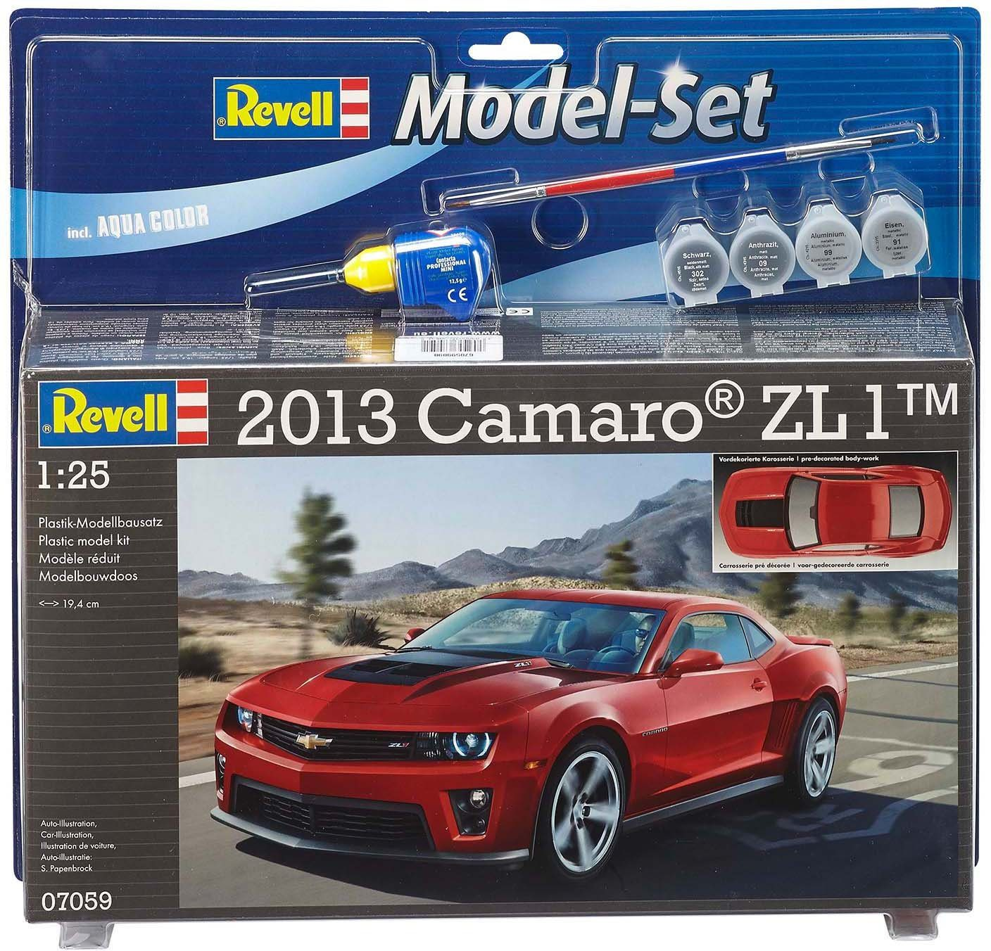 Revell Modellbausatz mit Аксессуар, Maßstab 1:24, »Model Set, Chevrolet Camaro 2013 ZL1«
