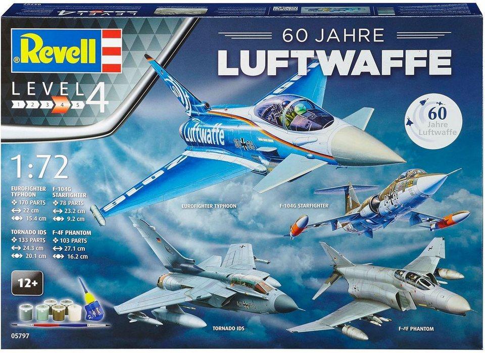 Revell 4 Modellbausätze mit Zubehör, »Geschenkset 60 Jahre Luftwaffe«