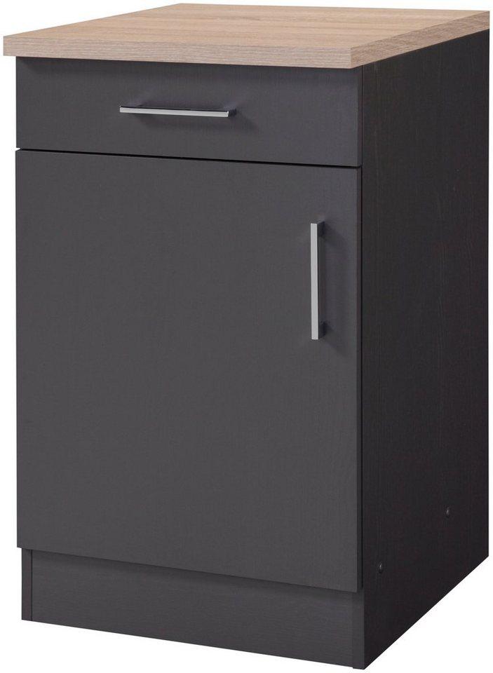 Küchenunterschrank »Palma, Breite 50 cm« in graphitfarben