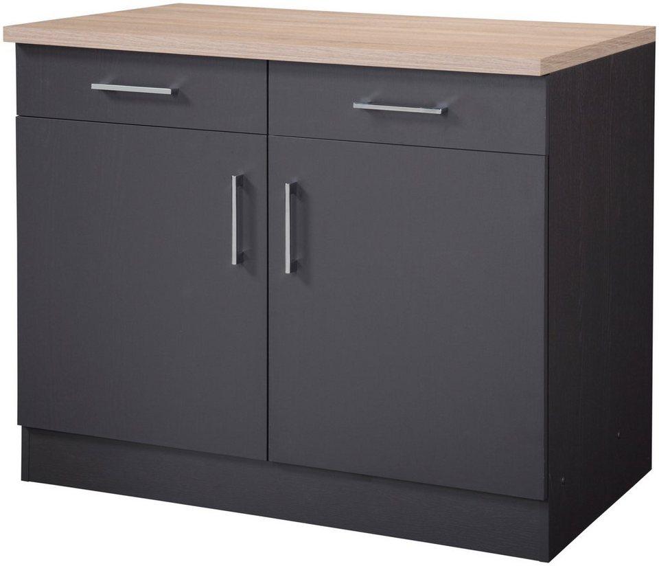 held m bel k chenunterschrank palma breite 100 cm online kaufen otto. Black Bedroom Furniture Sets. Home Design Ideas