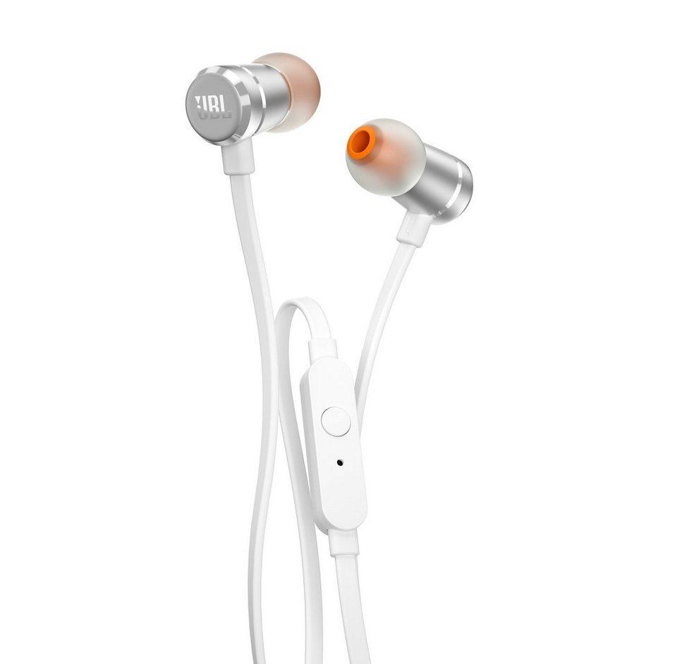 JBL In-Ear Kopfhörer mit Fernbedienung & Integriertem Mikrofon »T290« in silber