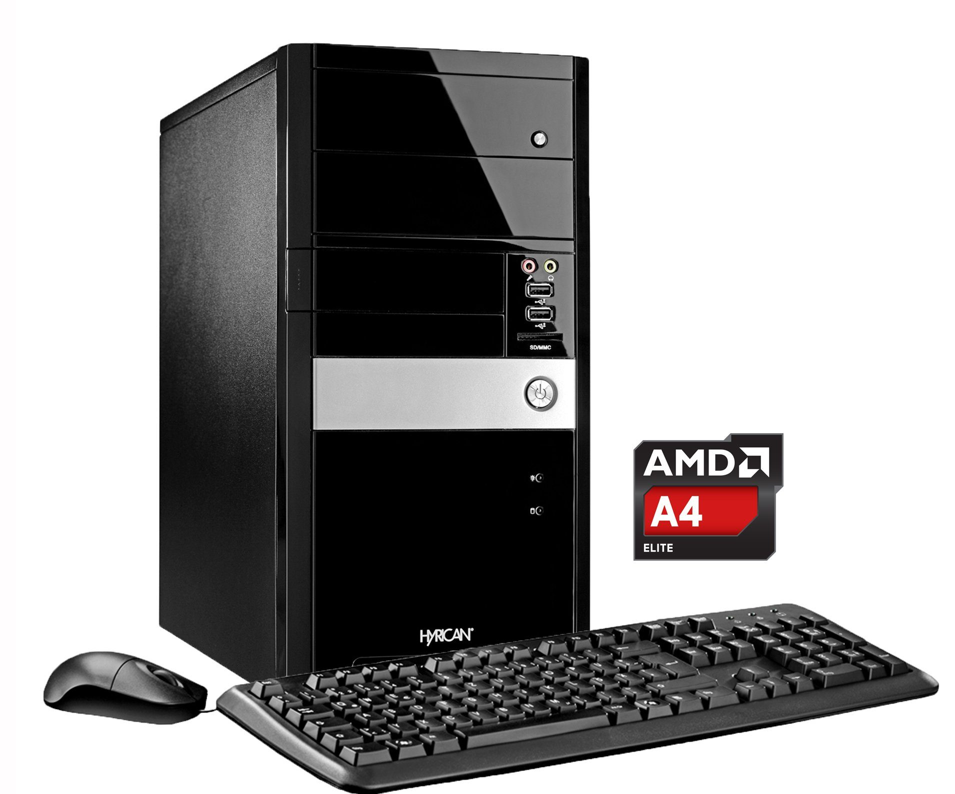 Hyrican PC AMD A4-7300, 8GB, 2TB, Microsoft® Office , W10 »Gigabyte Edition PC 5307«