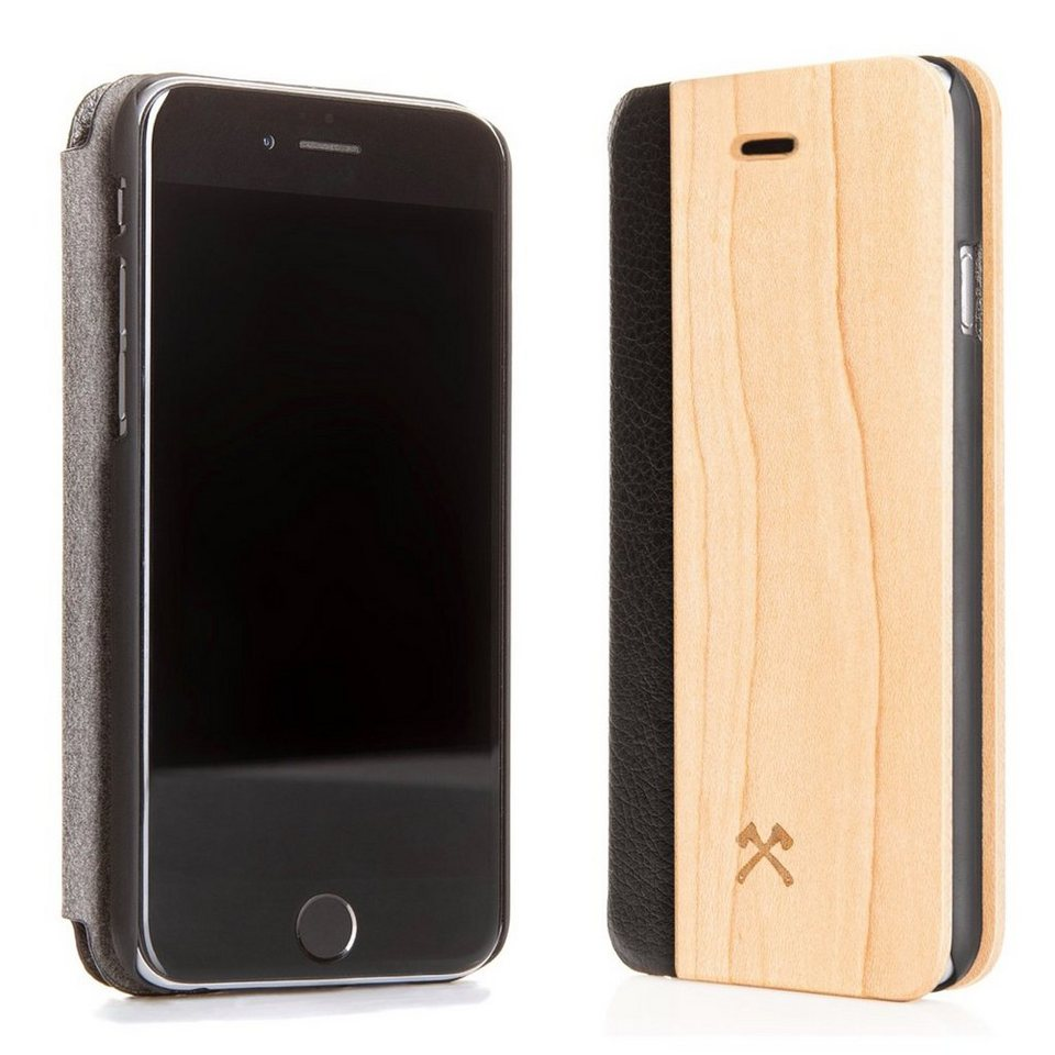 Woodcessories EcoCase - iPhone SE / 5 / 5s Echtholz Case - Ahornleder