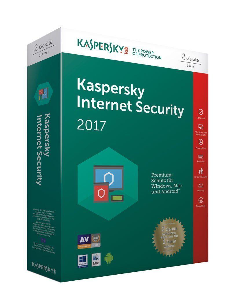Kaspersky Software »Kaspersky Internet Security 2017 - 2 User Limited«