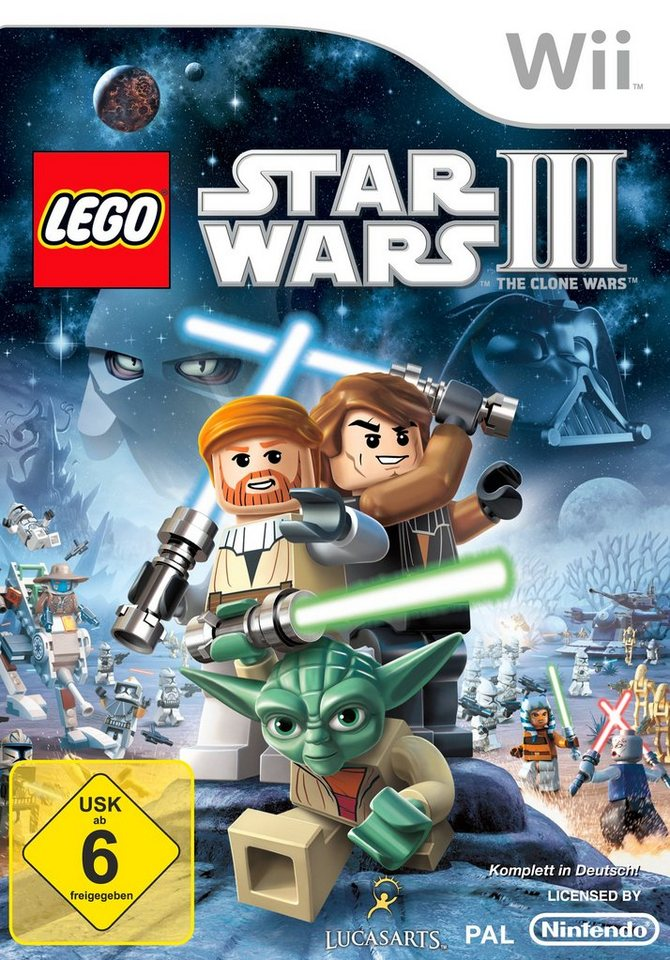 DISNEY Software Pyramide - Nintendo Wii Spiel »LEGO Star Wars 3: The Clone Wars«